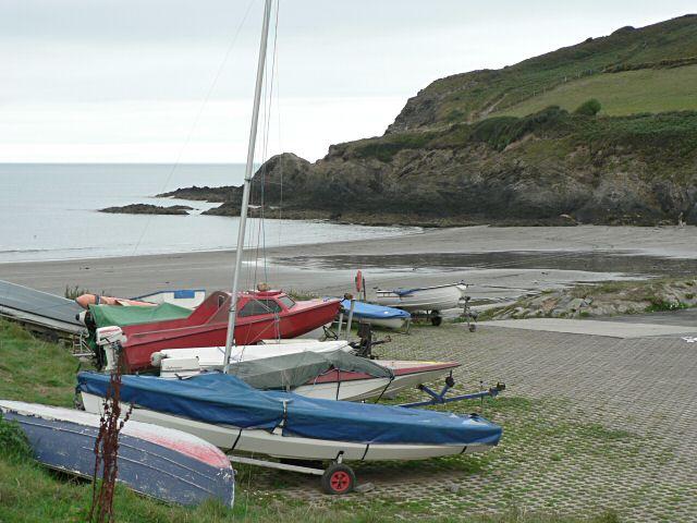 Boats at Pwllgwaelod