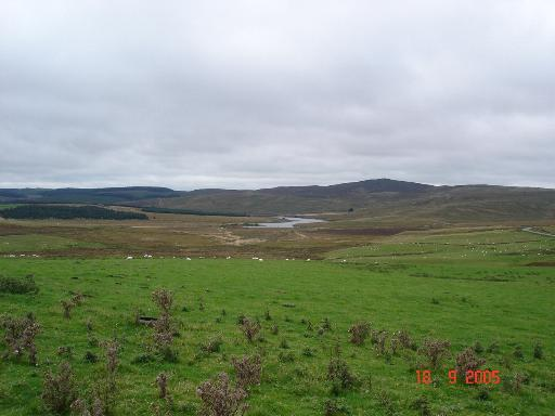 Farmland above Pont Clogwyn