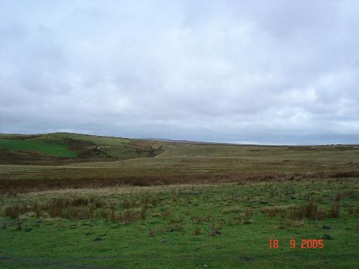 Farm and moorland above Pont Clgwyn