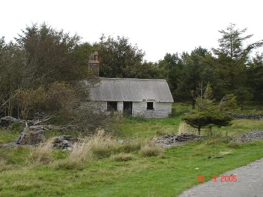 Derelict cottage at Bwlch-du