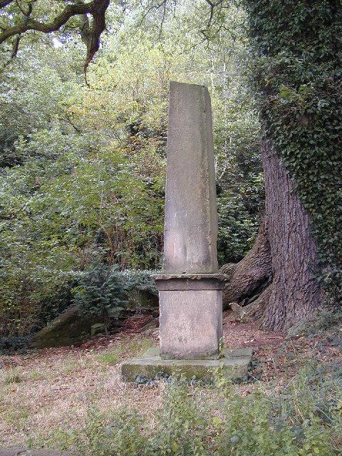 Monument at Lee Brockhurst - top lost.