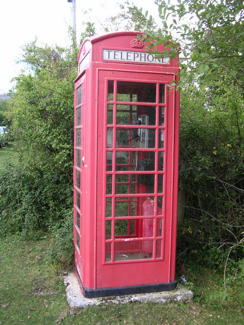Red telephone box at Minstead, New Forest