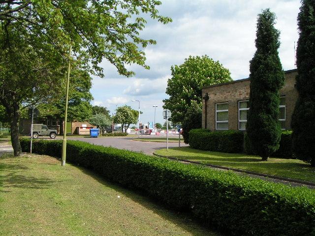 View towards Main Gate, RAF Scampton