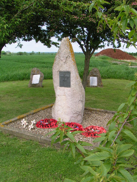 Memorial at former RAF Fiskerton