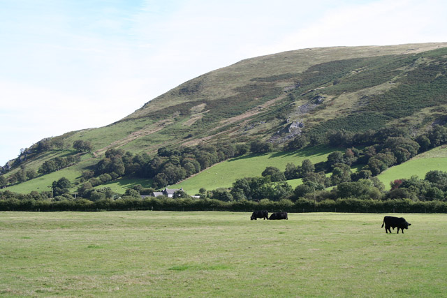 North from Rhayader: looking south east to Moelfryn