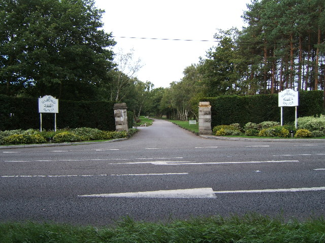 A243 Entrance to Leatherhead Golf Club
