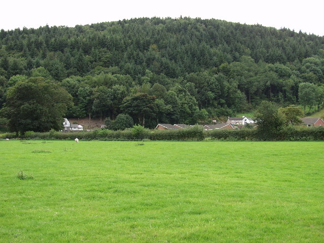 Edge of Llangollen below Pen-y-coed