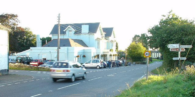 Road Junction with Inn at Dousland, Devon