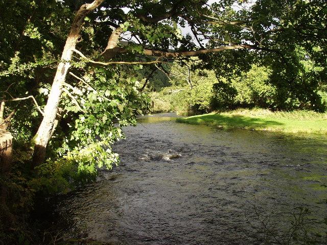 Afon Dyfrdwy at Garth y dwr