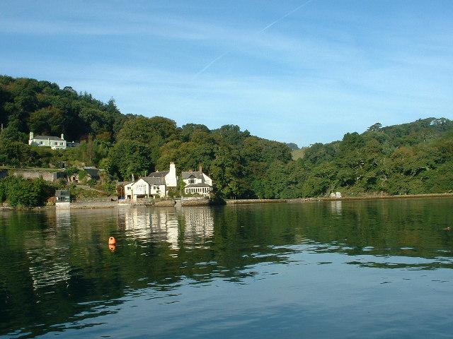 Houses at Thorn, Wembury. Yealm Estuary.