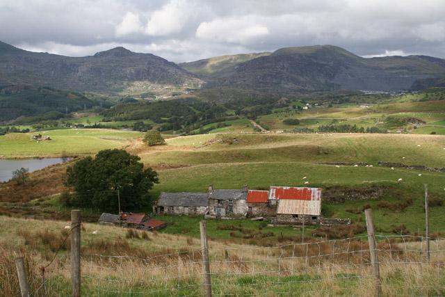 Ffestiniog: overlooking Lletty-Gwilym