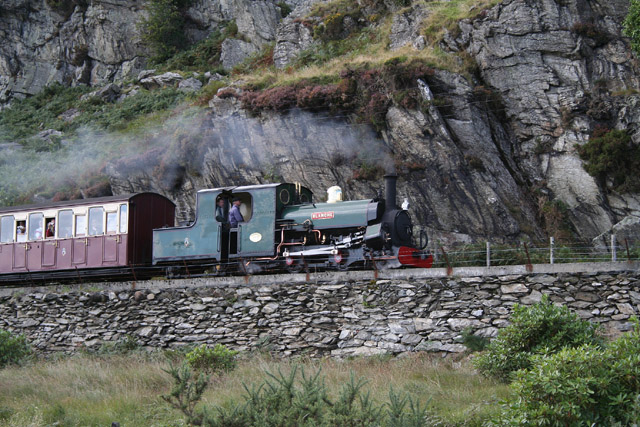 Ffestiniog: the Ffestiniog Railway between Tanygrisiau and Blaenau Ffestiniog