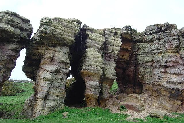 Elevated sea caves