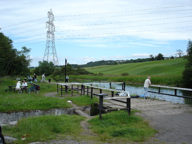 Picnic spot on Forth and Clyde canal