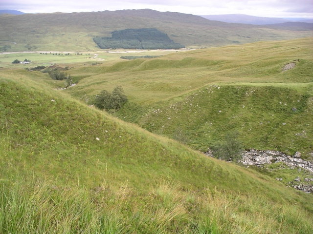 The path up from Achallader farm 2