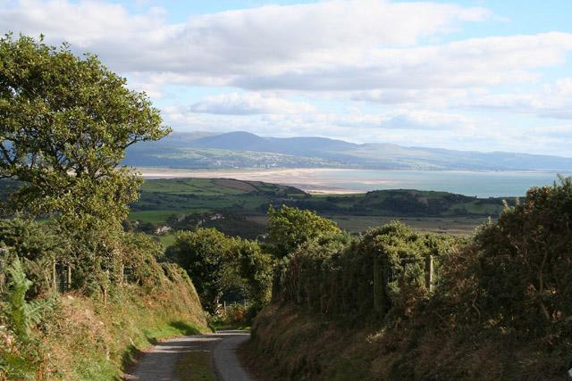 Criccieth: lane east from Braich-y-Saint