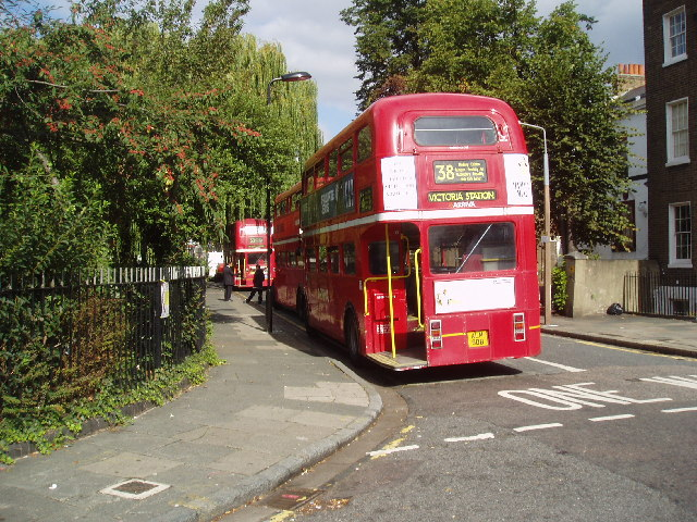 Routemaster buses at Clapton Pond terminus, London E5