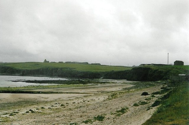 Scapa Beach, looking towards the reborn distillery