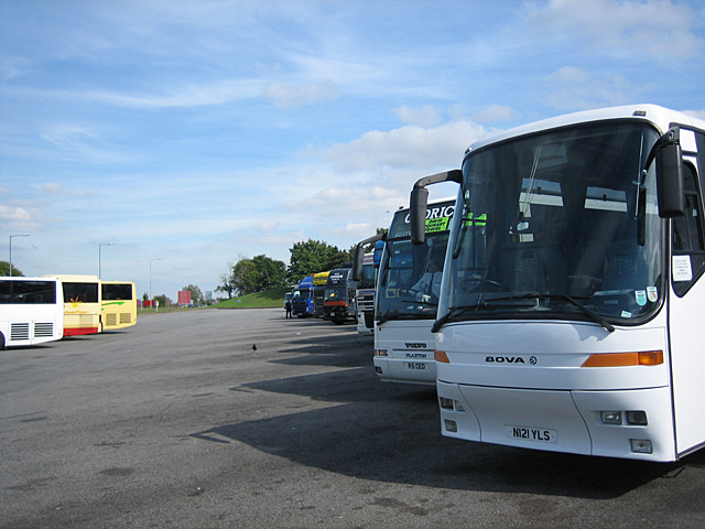 Coaches heading for the West Country