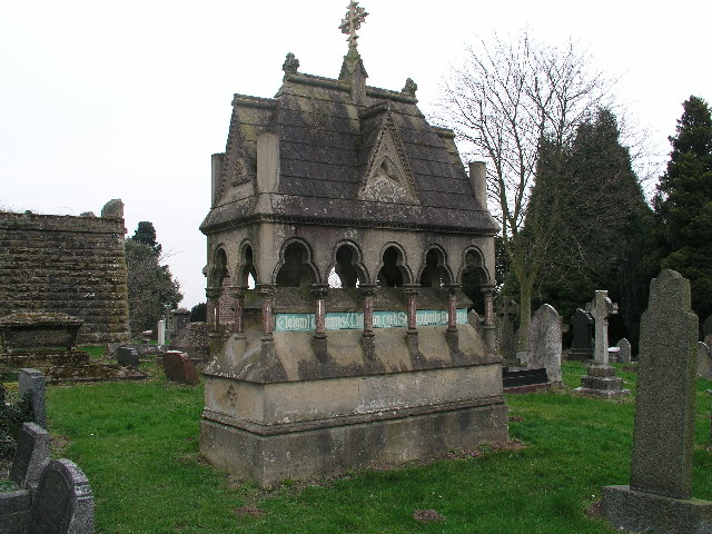 An ornate grave in Mansfield cemetery