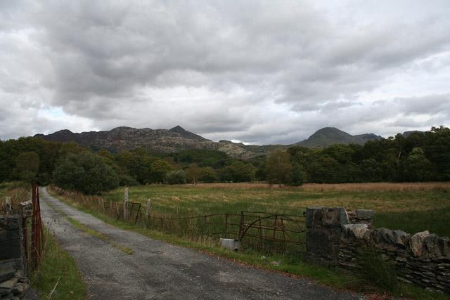 Beddgelert: by the entrance to Dolfriog