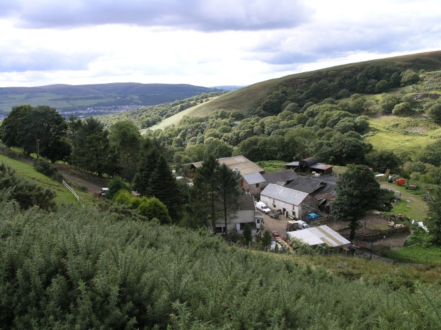 Farm, looking down towards the Amman Valley