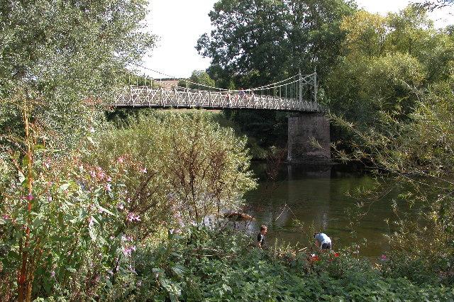 Foy suspension bridge  over the river Wye