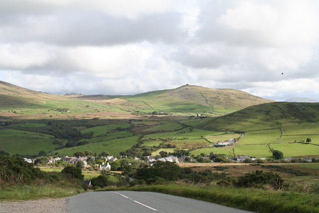 Llanaelhaearn: the village from the south west