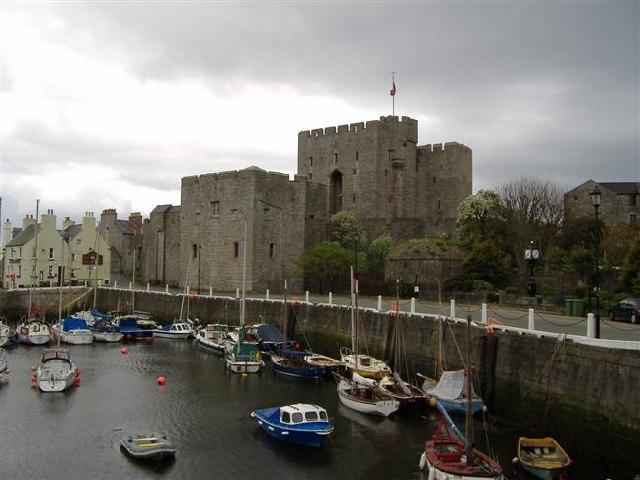 Castle Rushen and Castletown harbour