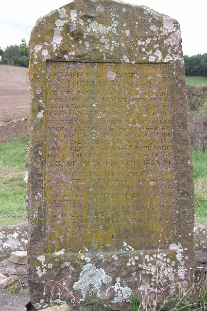 Memorial to Thomas Winter, Fownhope