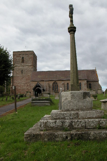 Woolhope church and cross