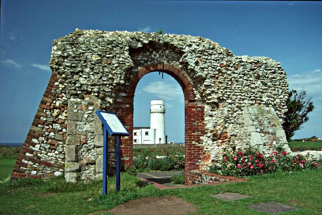 Remains of St Edmund's Chapel and Lighthouse, Hunstanton