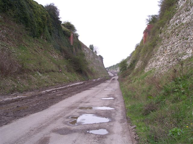 Approach cutting to Drewton Tunnel, Little Weighton, East Yorkshire.