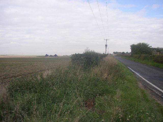 Heath Road near Wabraham Mains Farm