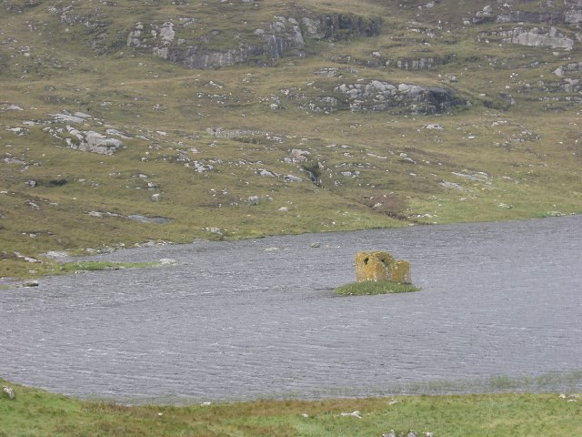 Ruined Tower in Loch Tangasdail