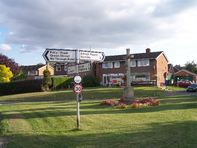 Alfrick Village Green, War Memorial and Post Office