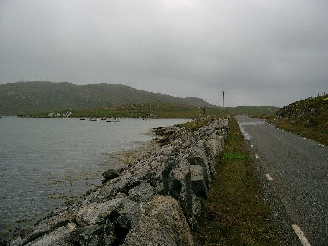 The new road leading to the Vatersay Causeway