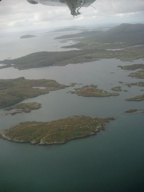 View south on take off from Barra Airport
