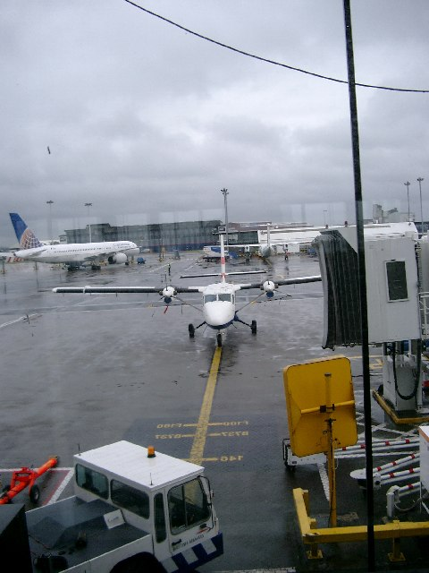 Embarking for Barra at Glasgow Airport