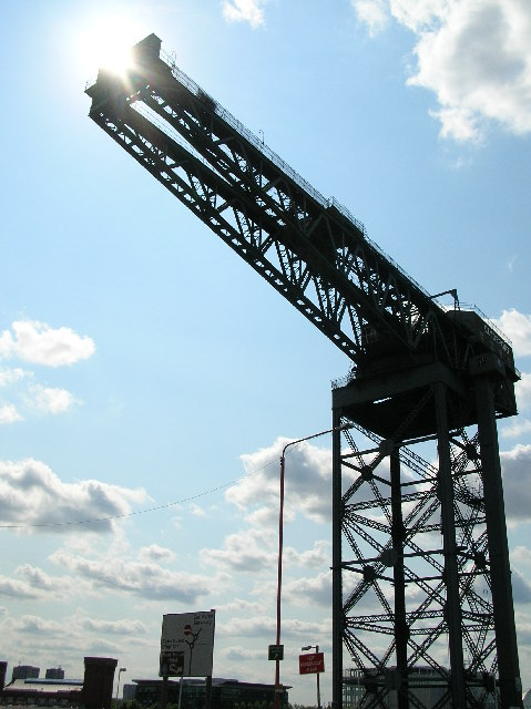 Clydeport crane basking in the Scottish sun