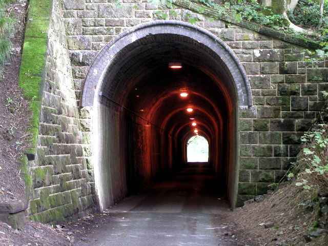 Old railway tunnel - new road tunnel