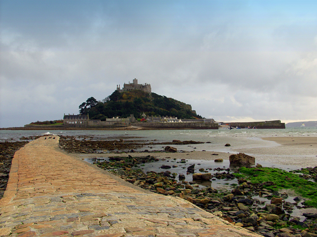 St Michael's Mount viewed from the causeway at low tide
