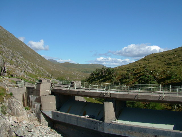 Monar Dam - Upstream Face & Spillway Gates