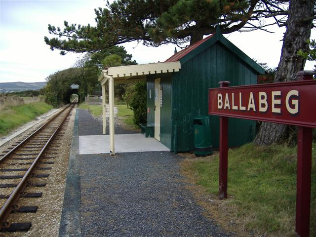 Ballabeg railway station Isle of Man