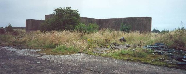 Remains of missile launch pad. RAF Harrington