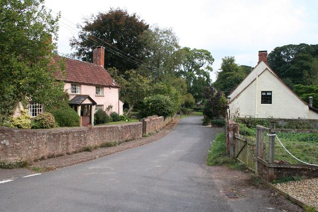 Combe Florey: village street