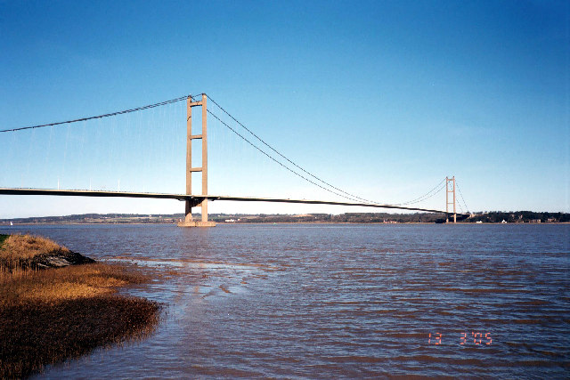 Humber Bridge at high tide