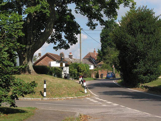 Western end of Owslebury Main Road