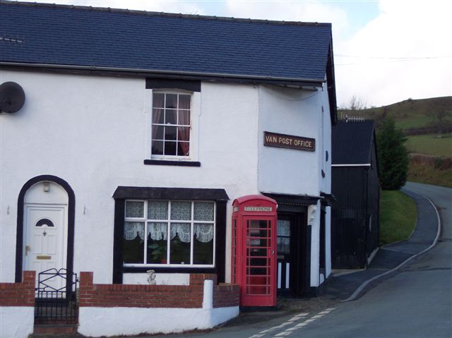 Van Post Office, Llanidloes, Montgomeryshire.