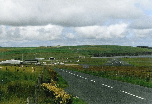 Kirkwall airport from the A960